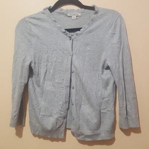 Banana Republic Light Gray Basic Cardigan